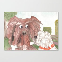 """...and they call it """"Puppy Love"""". Canvas Print"""