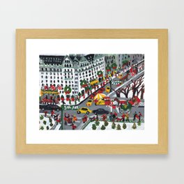 5th Ave And 59 Framed Art Print