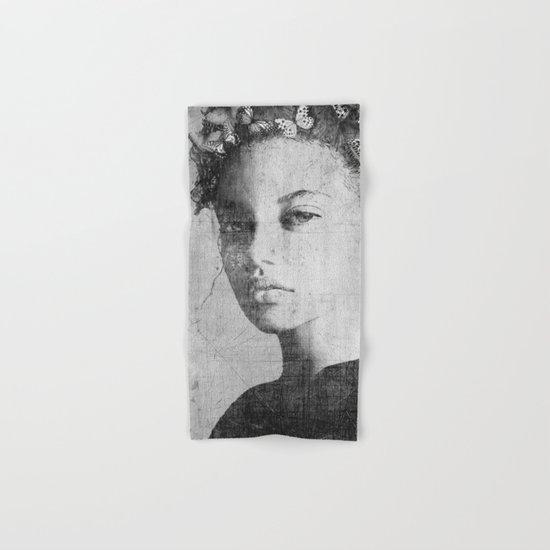 PORTRAIT (Woman with butterflies) Hand & Bath Towel