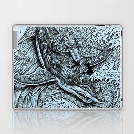 i only surf on SHARKS! Laptop & iPad Skin