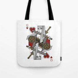 Omnia Illumina Queen of Hearts Tote Bag