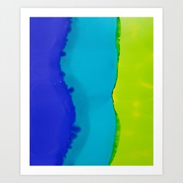 In waves Art Print