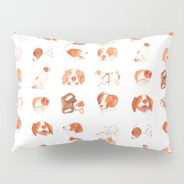 Faces and Poses of a Brittany Spaniel Pillow Sham