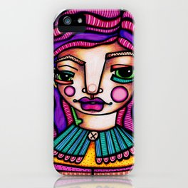 JennyMannoArt Colored Illusration/Peaches iPhone Case