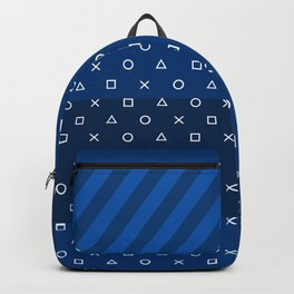 Playstation Controller Pattern - Navy Blue Backpack