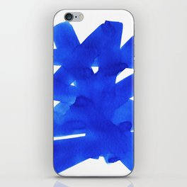 Superwatercolor Blue iPhone Skin