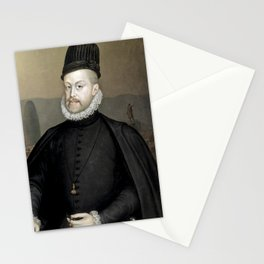 Philip II of Spain in Barcelona Stationery Cards