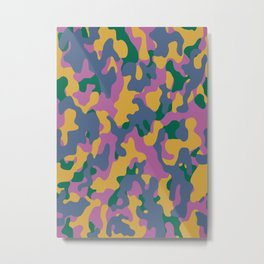 Camouflage #2 Autumn Color - Living Hell Metal Print