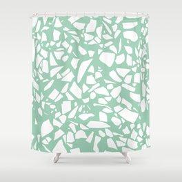 Terrazzo Mint Shower Curtain