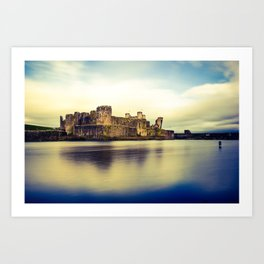 Caerphilly Castle (Cross Processed) Art Print