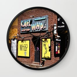 Cafe Wha? Greenwich Village NYC Wall Clock