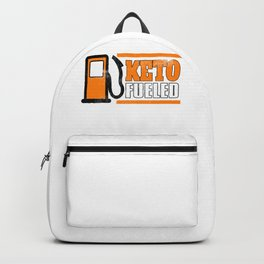 Keto Fueled Keto Diet Healthy Living Low Carb High Fat LCHF Diet Backpack