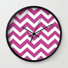 Red-violet (Crayola) - violet color - Zigzag Chevron Pattern Wall Clock