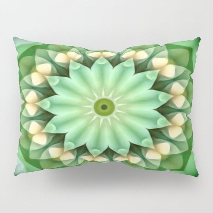 Daisy Green Yellow Kaleidoscope Pillow Sham