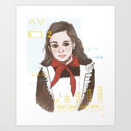 Pionerka Art Print