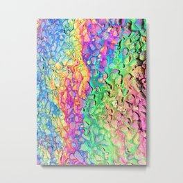 Rainbow Oil Slick Spill on Tarmac Pavement Road Metal Print