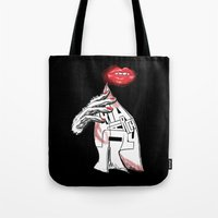philosophy Tote Bags featuring Disposable Philosophy by MLauxDesign