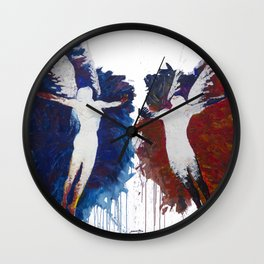 Fly With Me Duo Only Print Edition Wall Clock