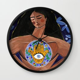 She who found magic within Wall Clock