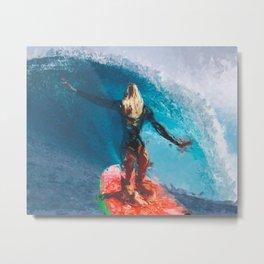 Brave Surfer Metal Print