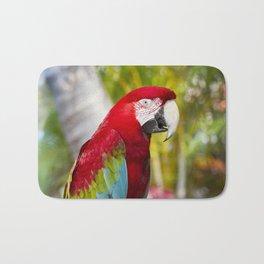 Green Winged Macaw Ara chloropterus Lahaina Maui Hawaii Bath Mat