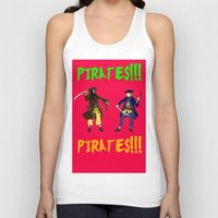 pirates Tank Tops featuring Pirates!!! by Michael Keene