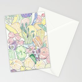 Vegetable Cornucopia Stationery Cards