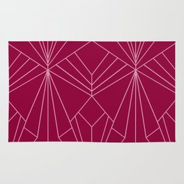 Art Deco in Raspberry Pink - Large Scale Rug