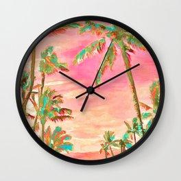 Beach at Mauna Lani Bay, Hawaii Peach Wall Clock