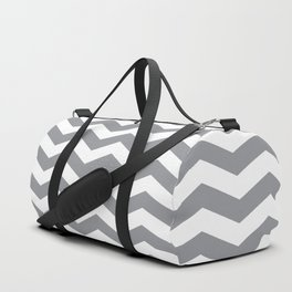 Grey Chevron Pattern Duffle Bag
