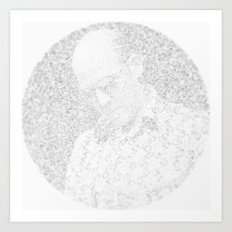[De]generated ArcFace - Hunter S. Thompson Art Print
