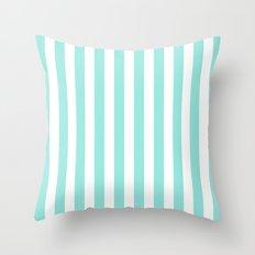Stripe Tiffany Blue Vertical Throw Pillow