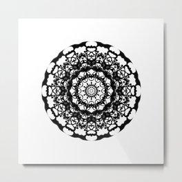 Solar Plexus Mandala Metal Print