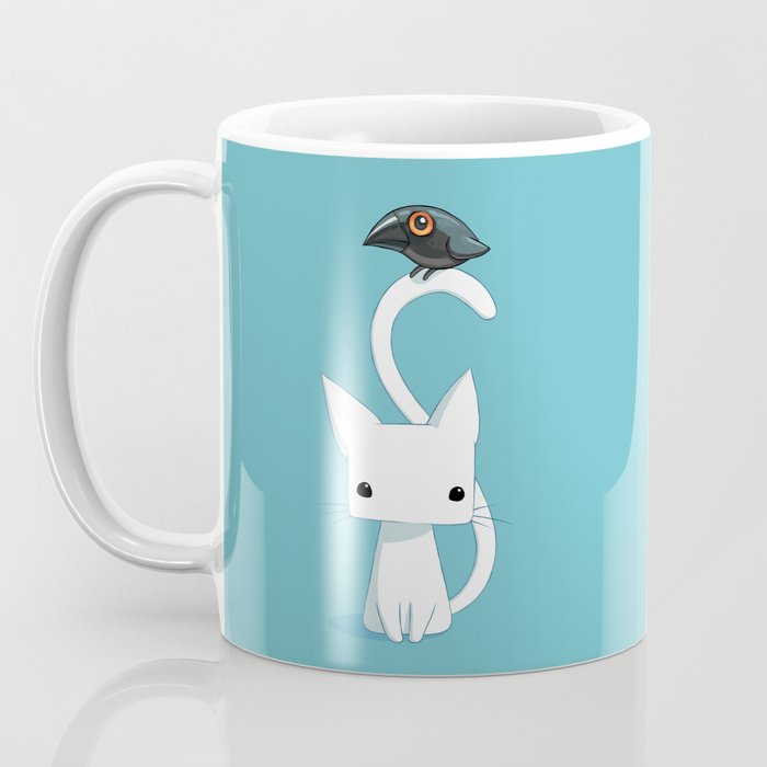 Cat and Raven Coffee Mug