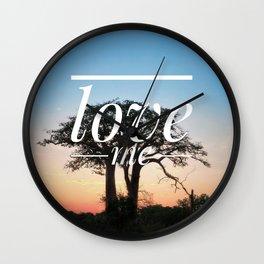 Motus Operandi Collection: Love me Wall Clock