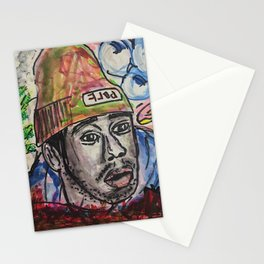 tyler,rapper,colourful,colorful,poster,wall art,fan art,music,hiphop,rap,legend,shirt,print Stationery Cards