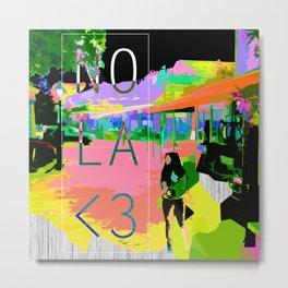 """NOLA <3"" Metal Print"