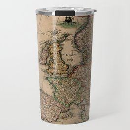 Antique Map Design Travel Mug