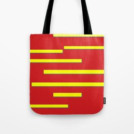 Bright Red and Bright Yellow Graphic Design Tote Bag
