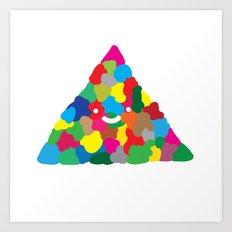 happy colour triangle Art Print