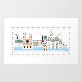 Paris _ les îles Art Print