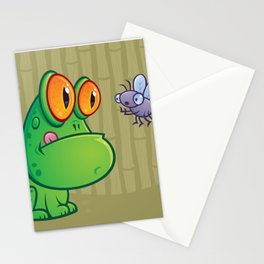 Frog and Dragonfly Stationery Cards