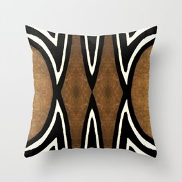 Cocoa Brown Throw Pillow
