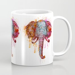 Watercolor Elephant Head Coffee Mug
