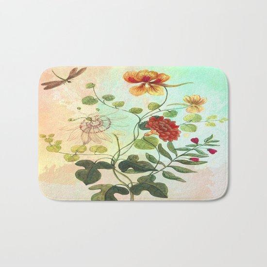 Simply Divine, Vintage Botanical Illustration Bath Mat