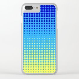 DOTTED PATTERN BLUE YELLOW Clear iPhone Case