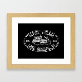 Vintage Alpine Village Logo Framed Art Print