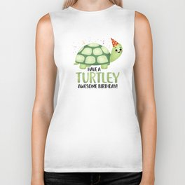 Have A Turtley Awesome Birthday - Turtle Biker Tank