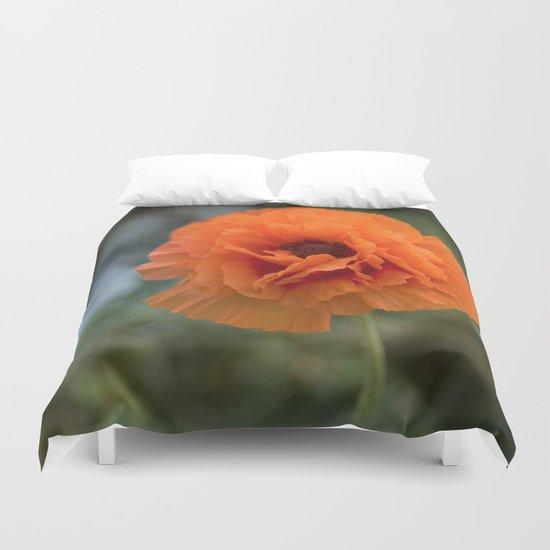 Enlightened Poppy - Poppies Flowers Flower on #Society6 Duvet Cover