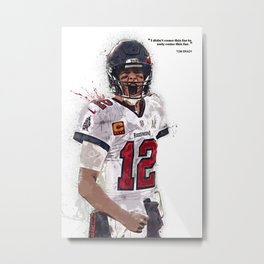 Tom Brady canvas, Tam-pa Bay Buccaneers poster for Wall Decor, Gym, Home Living, Bedroom, Office Decorations,print, mancave, splash paint Metal Print